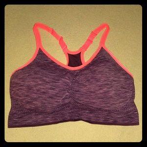 Old Navy Sports Bra Active Wear Purple / Coral L